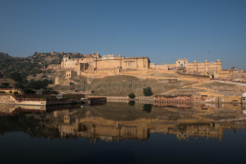 Янтарный дворец в Джайпуре стоковое фото