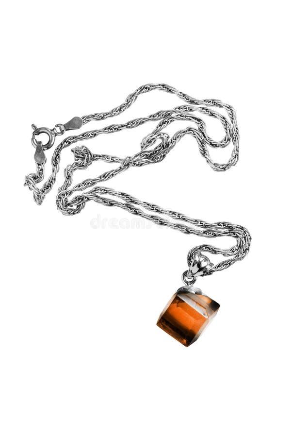 Янтарный изолированный шкентель стоковое изображение