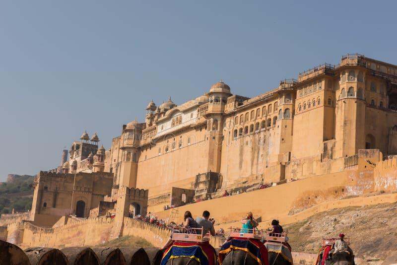 янтарный форт величественный стоковые фото