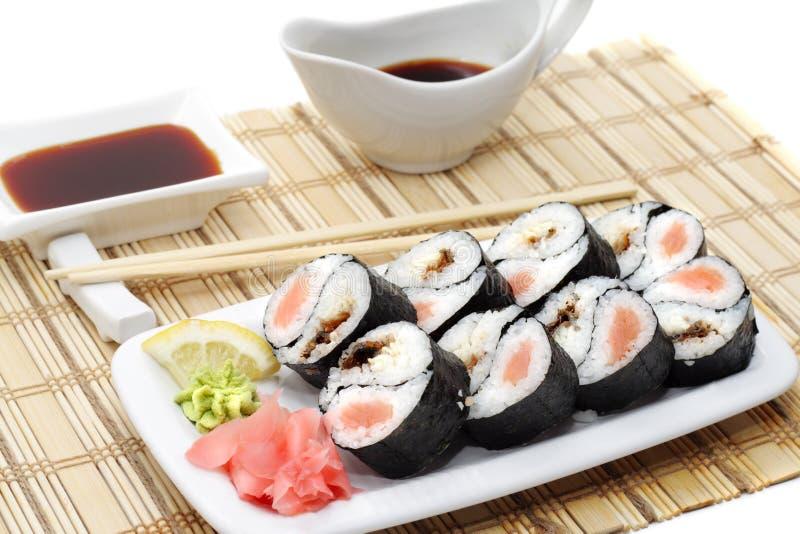 японец кухни свертывает yin yang стоковые фотографии rf