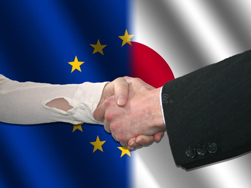 Download японец рукопожатия eu иллюстрация штока. иллюстрации насчитывающей arlington - 6863672