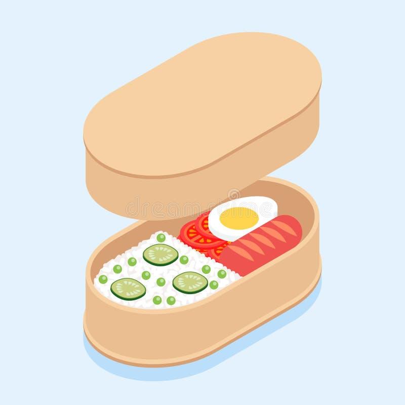 Японец Bento иллюстрация вектора