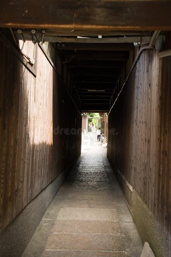 японец kyoto переулков стоковая фотография