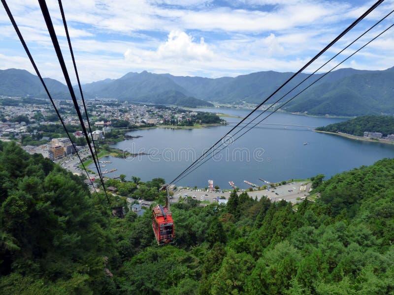 япония Озеро Kawaguchiko стоковое изображение rf