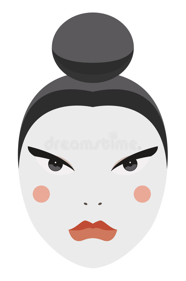Япония. Сторона гейши вектора с традиционным составом иллюстрация штока