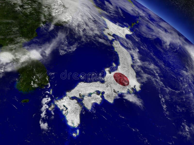 Download Япония с врезанным флагом на земле Иллюстрация штока - иллюстрации насчитывающей карта, orbiting: 81802205