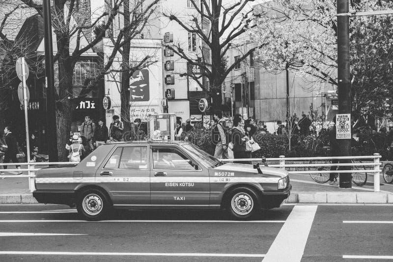 Япония B&W: Улица Японии стоковые изображения