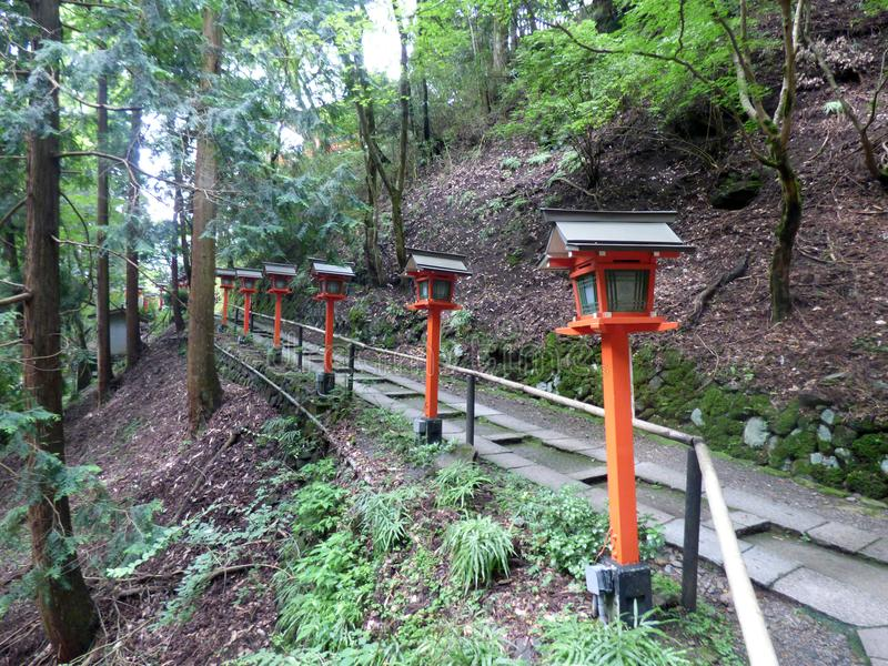 япония Kurama hiking стоковые фото