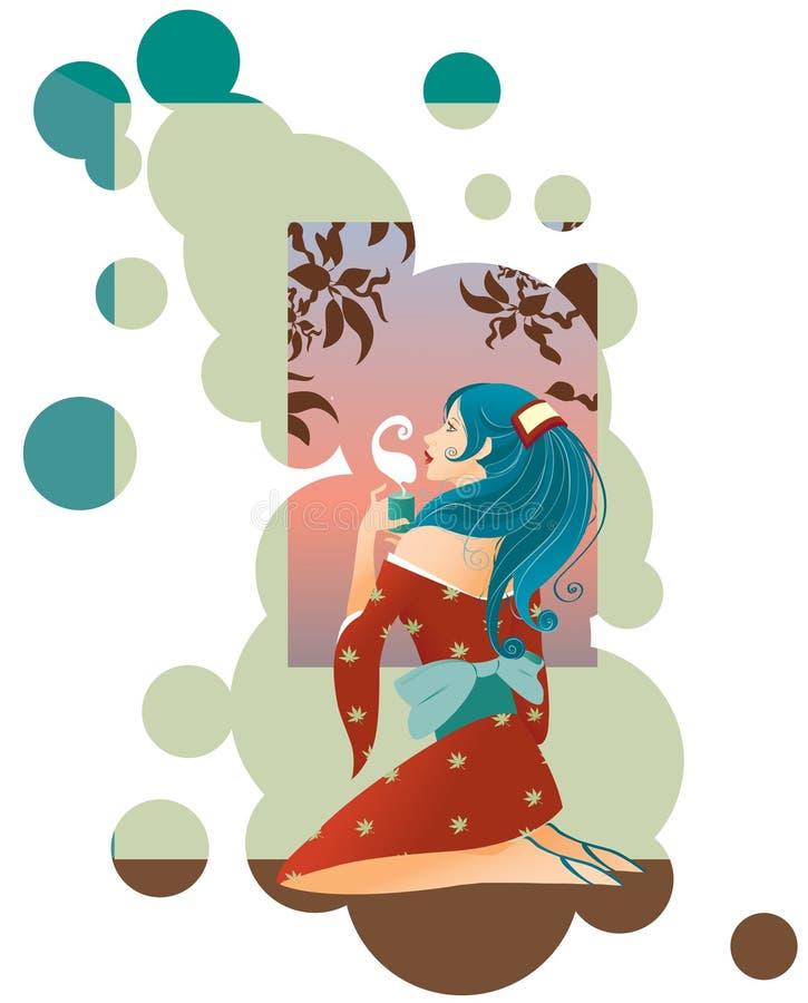 япония tea2 иллюстрация штока