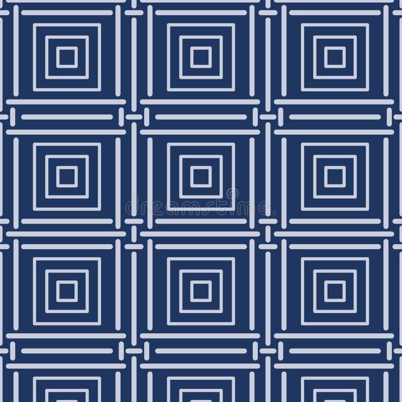 Японская бамбуковая квадратная картина иллюстрация вектора