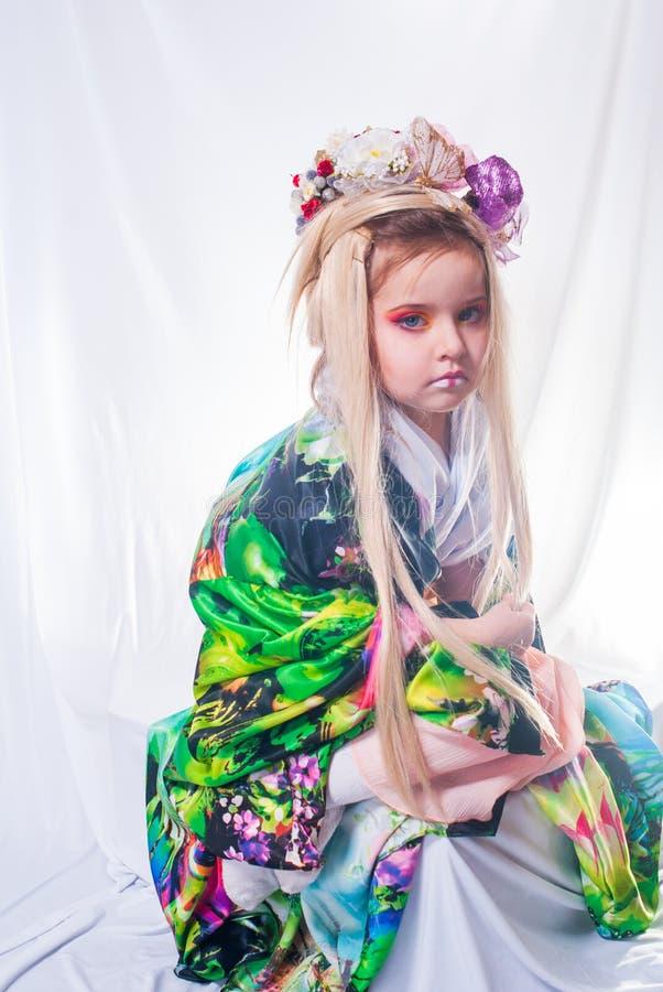 Японская девушка гейши стоковое фото
