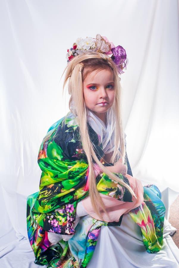 Японская девушка гейши стоковые изображения