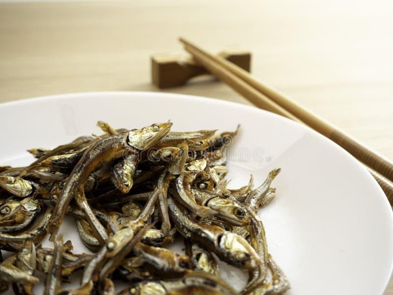 Японская здоровая еда Рыбы Iriko стоковые изображения rf