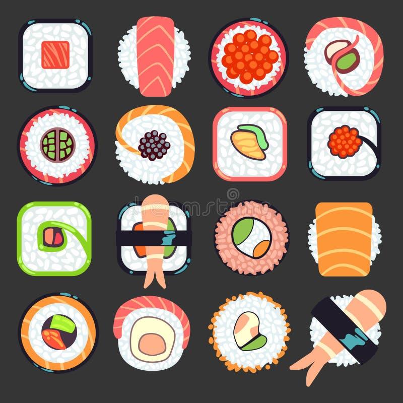 Японская иллюстрация вектора суш еды иллюстрация штока