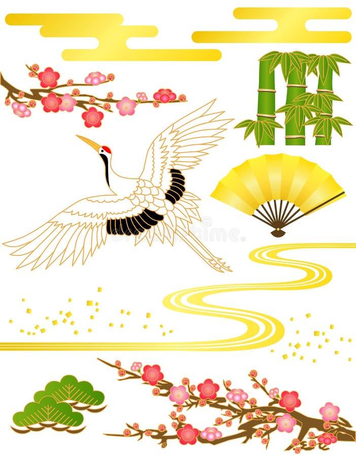 японская картина иллюстрация вектора