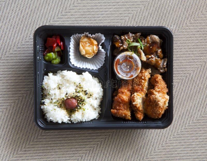 Японская коробка бенто стоковое изображение