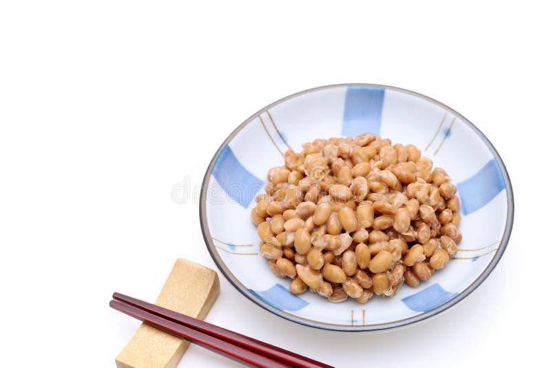 Японская кухня, заквашенное natto фасоли сои стоковые фото