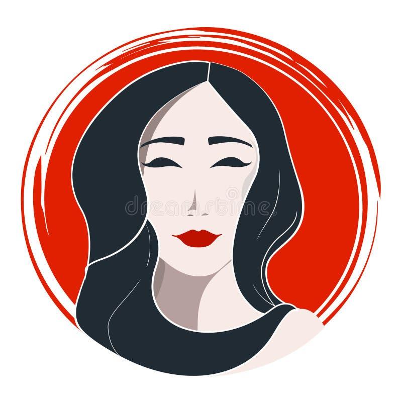 Японская мода женщины иллюстрация штока