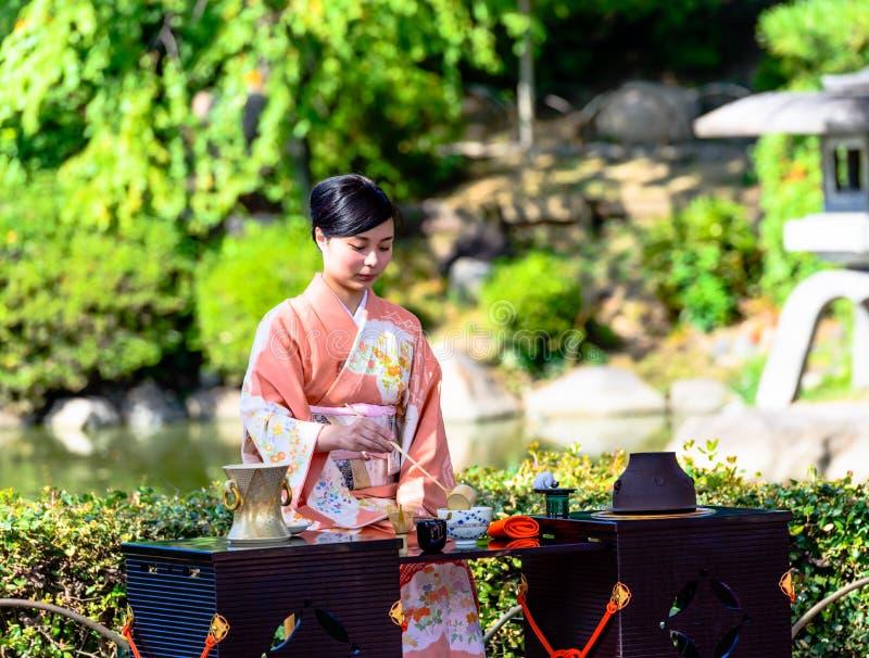 Японская церемония чая стоковые изображения rf