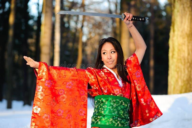 японские детеныши женщины стоковое фото rf