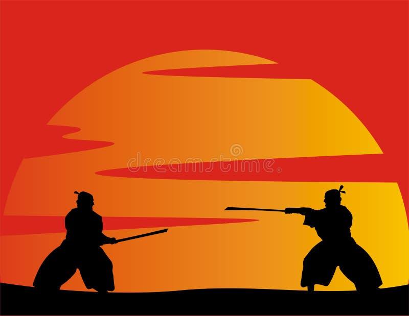 японские ратники вектора стоковое фото rf