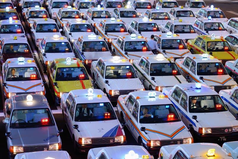 Японские такси стоковые фотографии rf