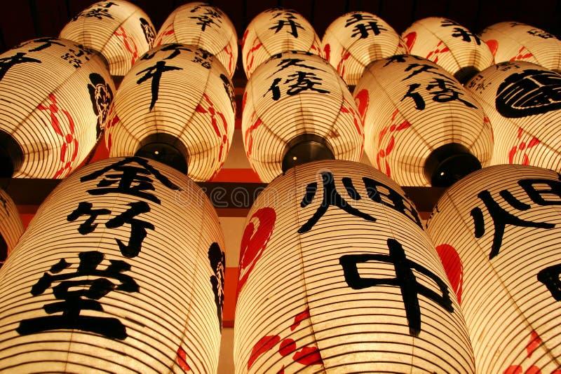 японские фонарики стоковые фото