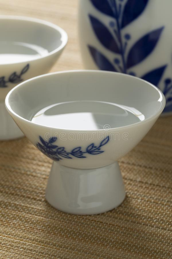 Японские чашки с ради стоковая фотография rf