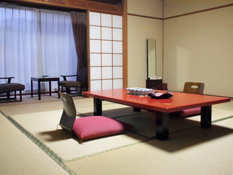 японский живущий тип комнаты стоковое изображение