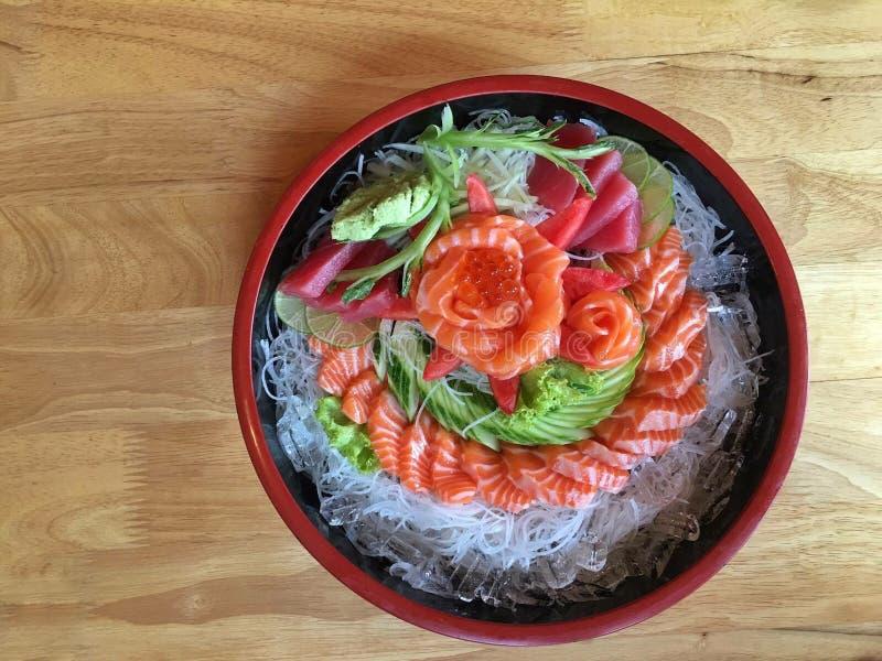японский комплект sashimi стоковая фотография rf