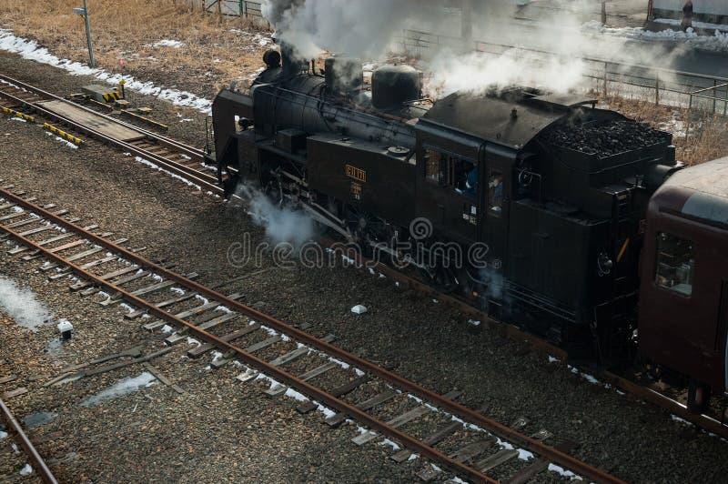 Японский поезд пара стоковые фотографии rf