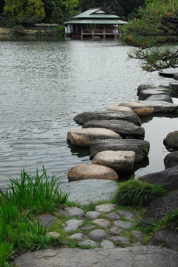 Японский пруд сада стоковые изображения