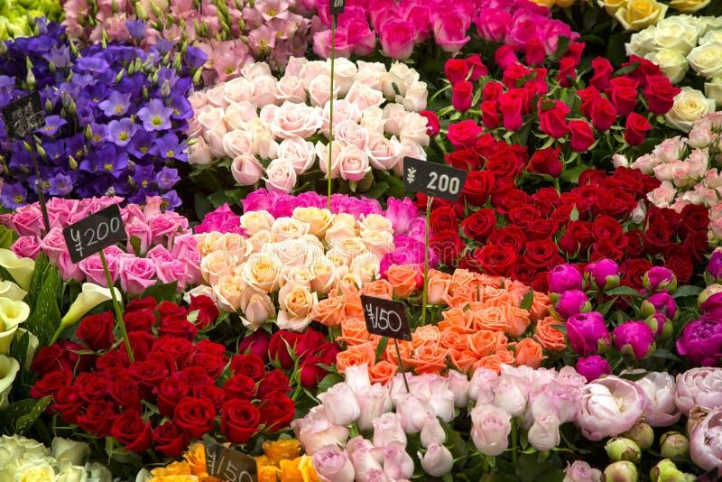 Японский рынок цветка стоковые изображения