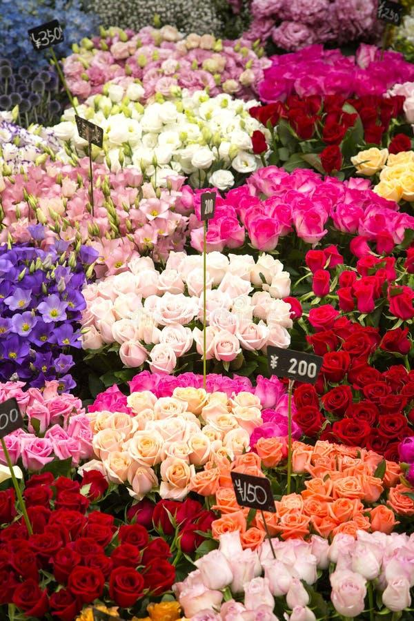 Японский рынок цветка стоковое изображение