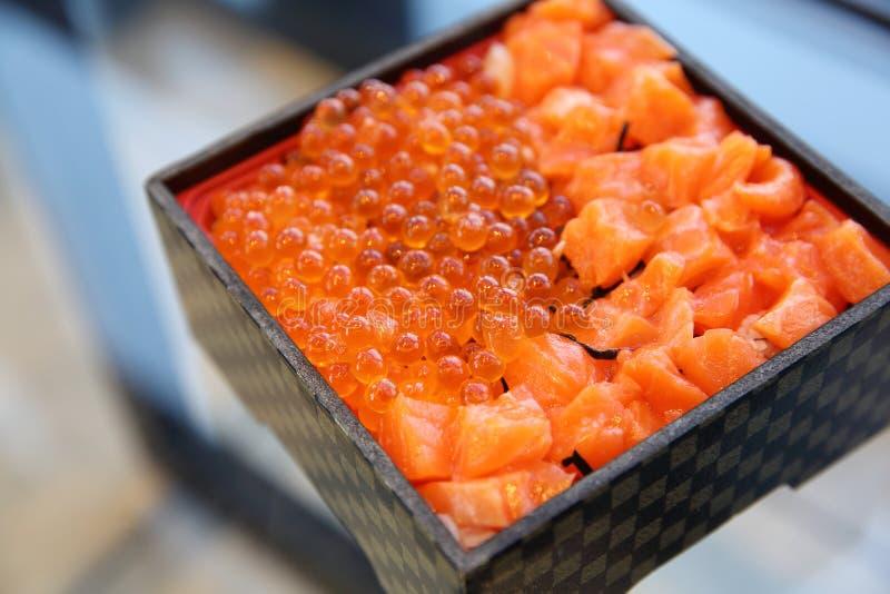Японский сасими семг обеда бенто стоковые фотографии rf