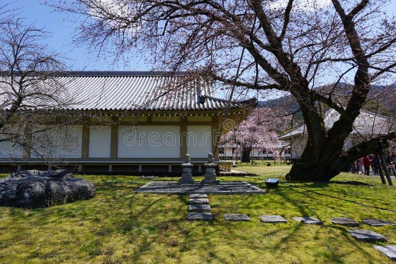 Японский сад Дзэн в виске Daigoji, Киото стоковое изображение