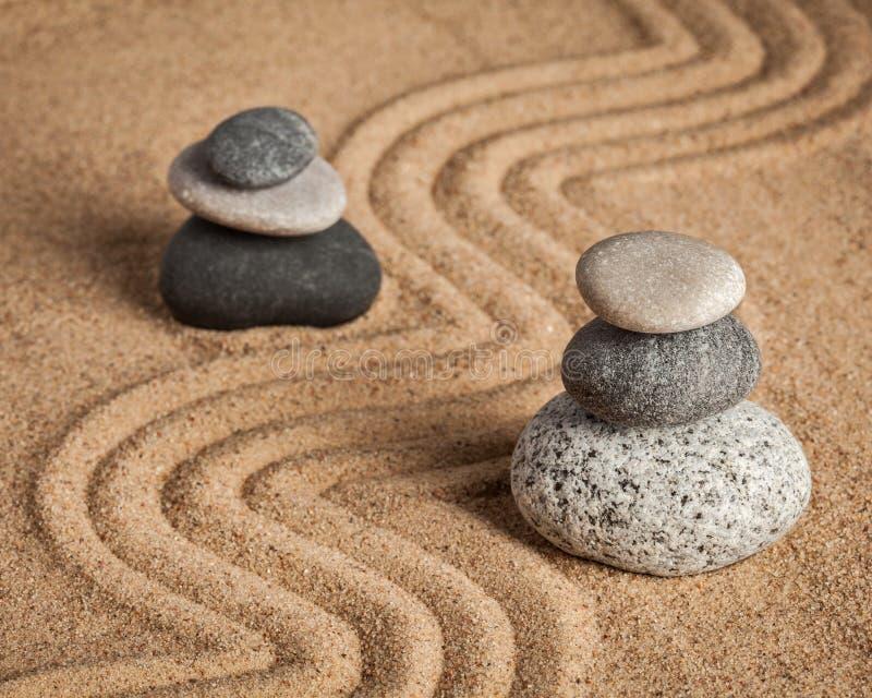 Японский сад камня Дзэн стоковое изображение