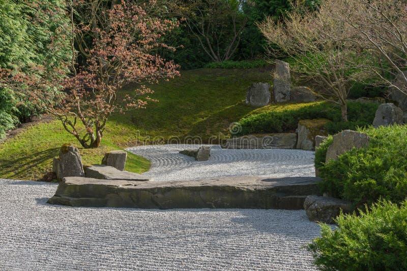 Японский сад сливать воду в Берлине Сад утеса стоковая фотография