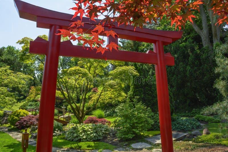 Японский сад торусов стоковое фото