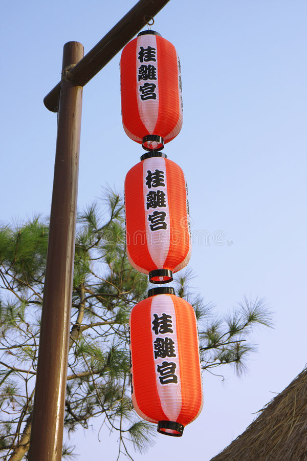 японский светильник стоковое фото