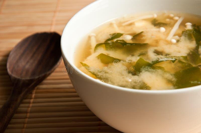 японский суп miso стоковое изображение rf
