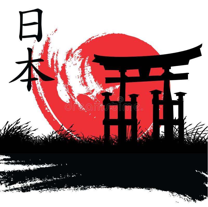 японский тип иллюстрация штока