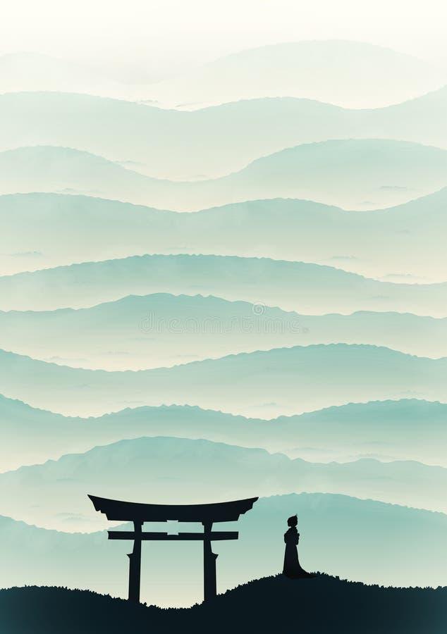 японский тип стоковая фотография