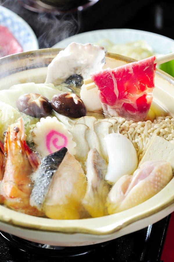 Японский тип Shabu Sukiyaki стоковая фотография