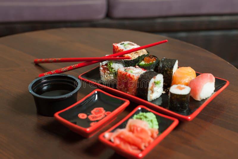 Японский традиционный крупный план морепродуктов стоковое фото