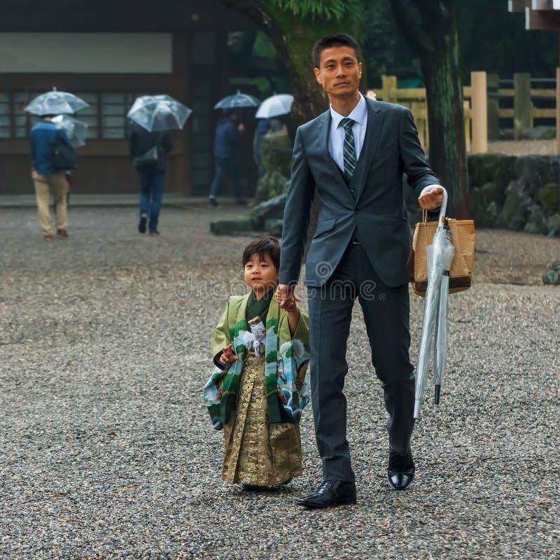 Японский традиционный обряд прохода и фестиваля стоковое фото
