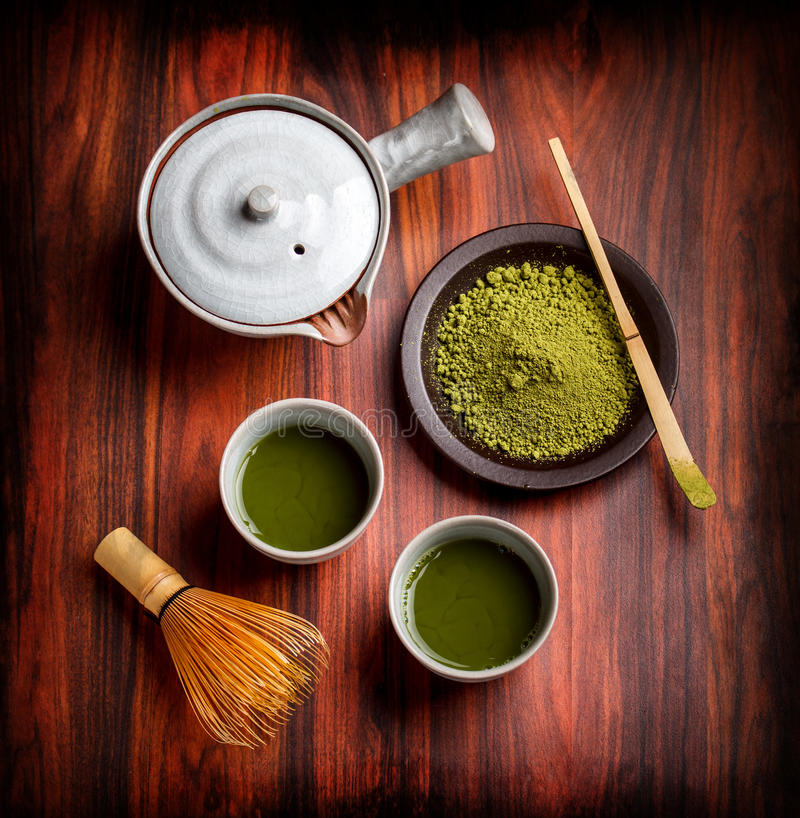 Японский традиционный чай стоковые фото
