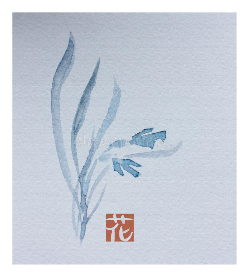 японский watercolour иллюстрация штока