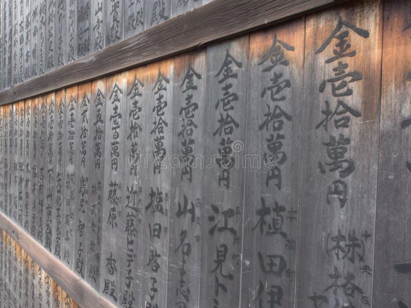 Download Японское сочинительство на древесине Редакционное Фотография - изображение насчитывающей зерно, японско: 81806227