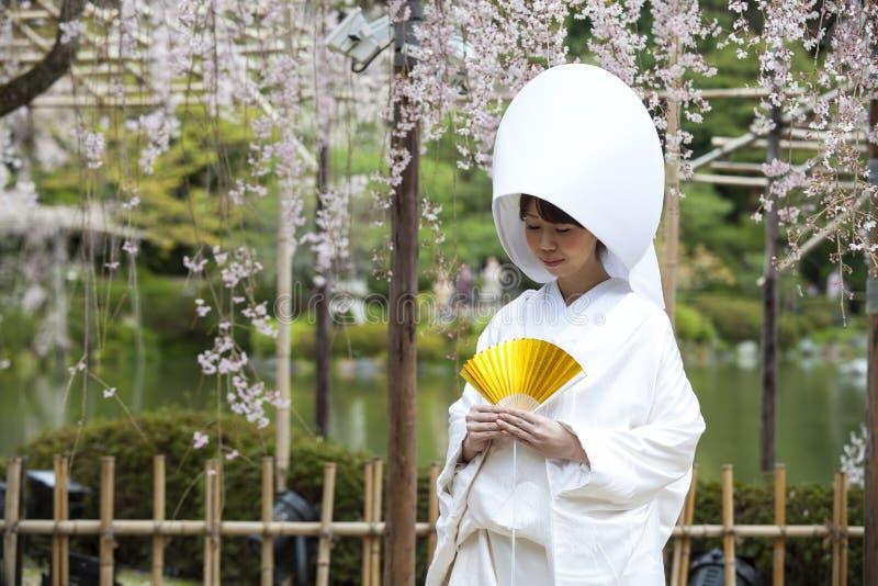 Японское традиционное платье свадьбы стоковое фото